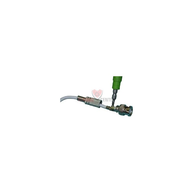 conector BNC com mola e parafuso para cabo coaxial de 4mm ou cabo coaxial rg59 conector para cameras de segurança cftv 8 unidades