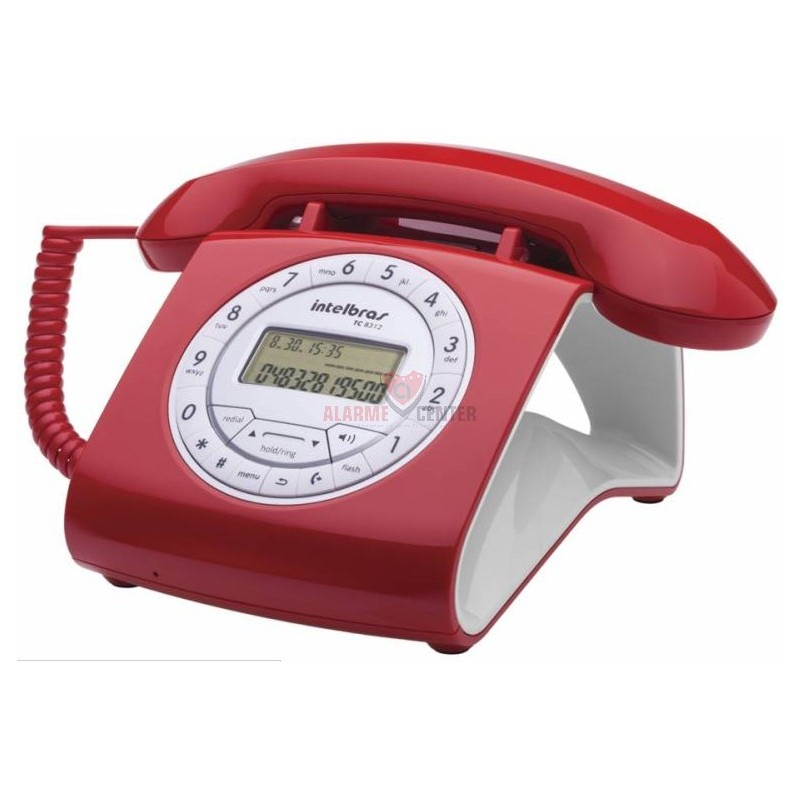 Telefone TC 8312 intelbras Vermelho Alarme center
